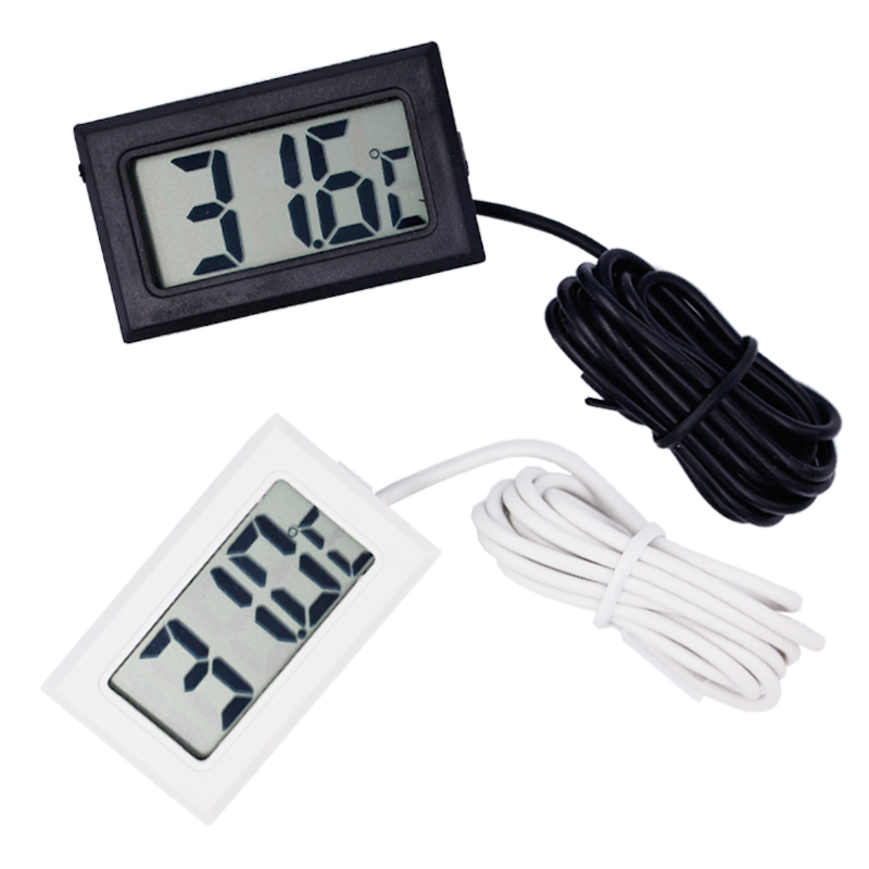 50pcs/ lot Mini Digital LCD Thermometer Temperature Sensor Fridge Freezer Thermometer 10% 50pcs lot [50pieces lot] hd7406p dip14