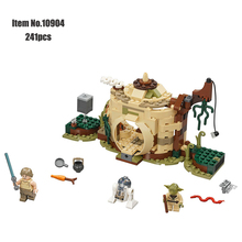 Star Wars Series Building Block Yodas Hut Luke Skywalker R2-D2  cartoon moive figures Bricks Toys Compatible With Legoings