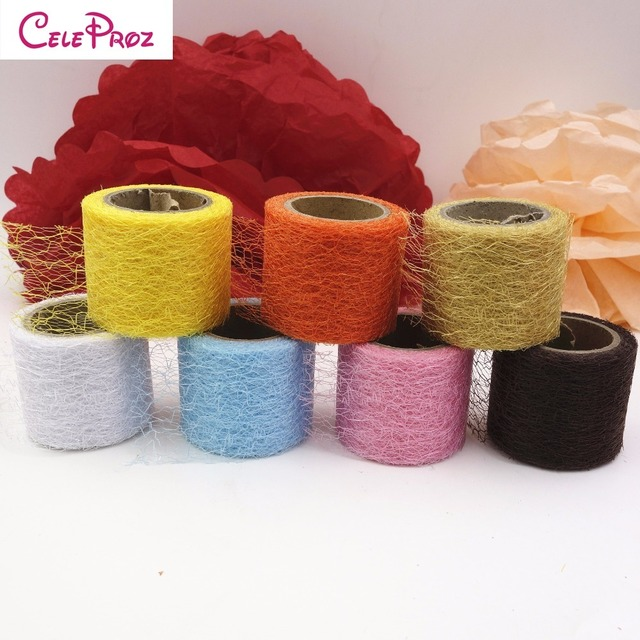 2inch 10Yards Spiderweb Net Tulle Mesh Fabric Roll Big Hole For Tutu Skirt Poms Flower