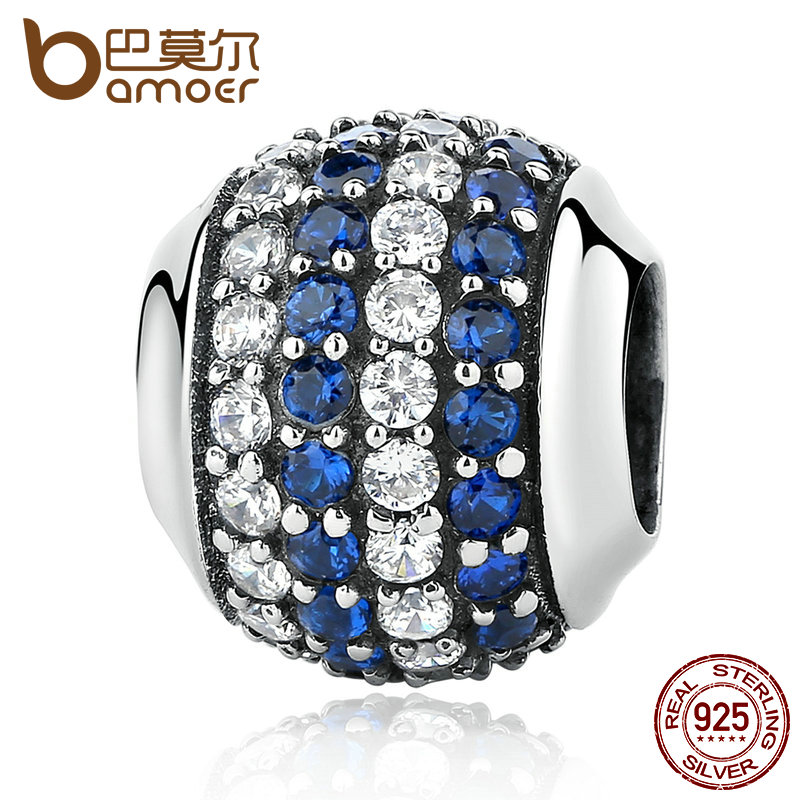 BAMOER Genuine 100% 925 Sterling Silver Blue Coast Charms fit Bracelets Women Beads & Je ...