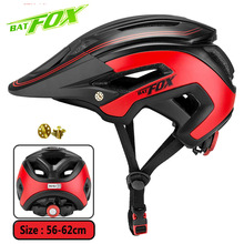 купить BATFOX 2019 Newest  Bicycle Helmet Ultralight Integrally-molded Cycling Helmet For MTB Road Bike Helmets Casco Ciclismo онлайн