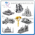Piece Fun 3D Laser Cut DIY Assembly Models Metal Puzzle Opera House Taj Mahal black pearl Hummer T-90 tank Adult educational toy