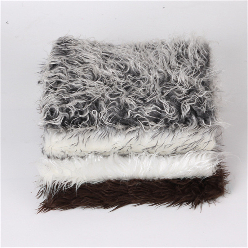Newborn Photography Props Soft Faux Fur Rug Mat Baby