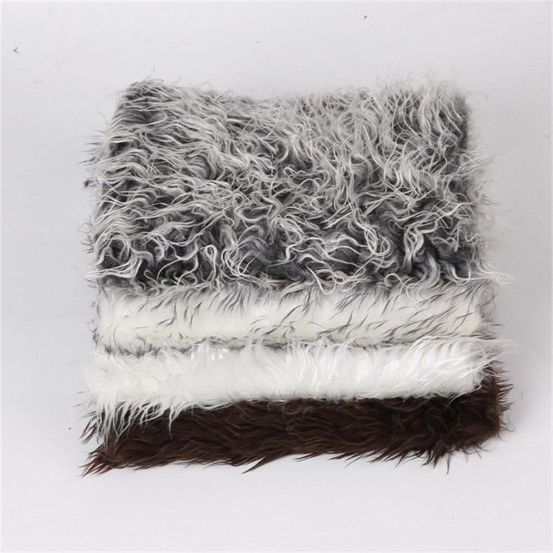 Newborn Photography Props Soft Faux Fur Rug Mat Baby Infant Blanket Backdrop New Basket Stuffe Photo Prop Background Soft Basket