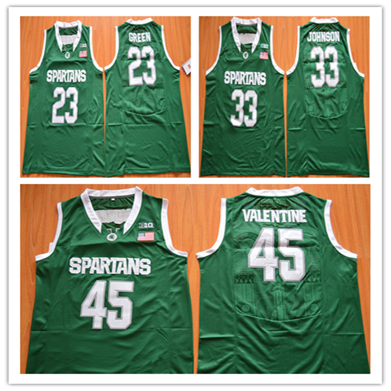 new styles 249a8 f60ce sweden spartans 45 denzel valentine green authentic ...