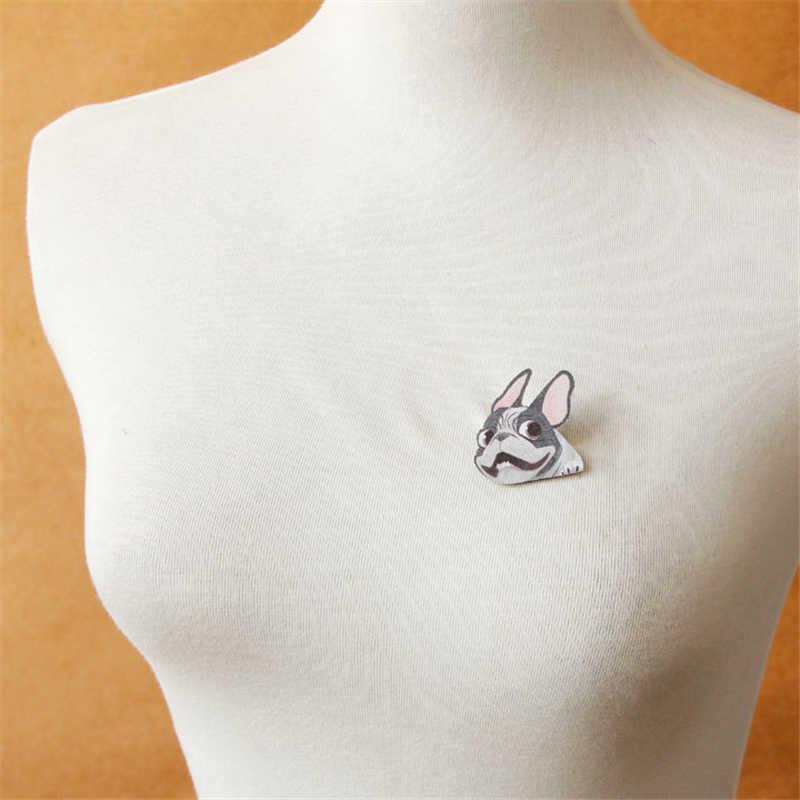 Doreenbeads Милый Забавный бульдог знак модные Пёс из мультфильма Фетр брошь Булавки Для мужчин Для женщин аксессуар для одежды пальто Hat сумка Брюки для девочек 1 предмет