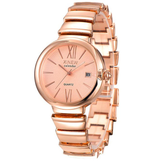 19f22c2ec62d women watches Fashion Luxury Ladies clock Women Girl Unisex Stainless Steel  Quartz Date Wrist Watch gift free shipping