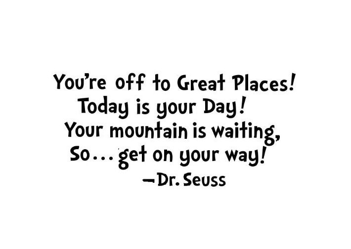 A4 Or 8x10 Youre Off To Great Places Dr Seuss Quote Print Unframed