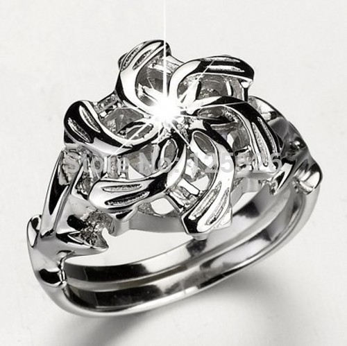 Потрясающие LOTR Галадриэль Ненья очарование камень 5A Камень Циркон 925 Soild стерлингового серебра леди обручальное кольцо Sz 5- 11 подарок ...