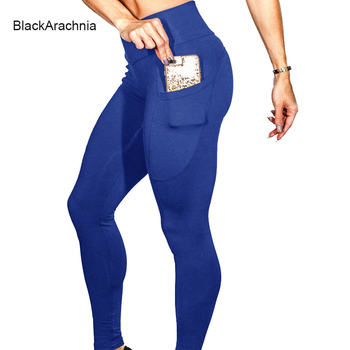 BlackArachnia Sexy Women Yoga Sport Leggings Phone Pocket Fitness Running Pants Stretchy Sportswear Gym Leggings Slim Yoga Pants