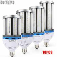 10 unids/lote 35W 45W 55W 65W E27 E40 bombilla LED tipo mazorca AC85-265V blanco cálido/frío súper brillante maíz iluminación LED lámpara suministro de fábrica