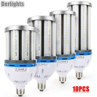 10pcs/Lot 35W 45W 55W 65W E27 E40 LED Corn Light AC85 265V Warm/Cold White Super Bright Corn Lighting LED Lamp Factory Supply