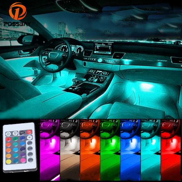 Aliexpress buy possbay universal car rgb light led strip possbay universal car rgb light led strip lights decoration atmosphere lamp wireless remotemusic aloadofball Images