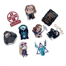 53pcs HP Character Potters Luna Luggage Sticker Harried Stickers Wizard Ron Hermione Dobby Hegwig Cute Magic World Wizard Party