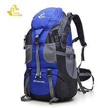 Бесплатный Рыцарь 50L Открытый спортивные сумки Водонепроницаемый нейлон походных рюкзаков Альпинизм дорожная сумка рюкзак для мужчин и женщин
