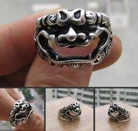 Beautiful Miao Silver Ring Delicate Lion shipping free