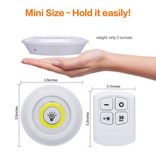 Ultra Bright Battery Operated COB LED Puck Lights Under Cabinet Lighting Tap Lights For Closet Wardrobe Stair Hallway Night lamp