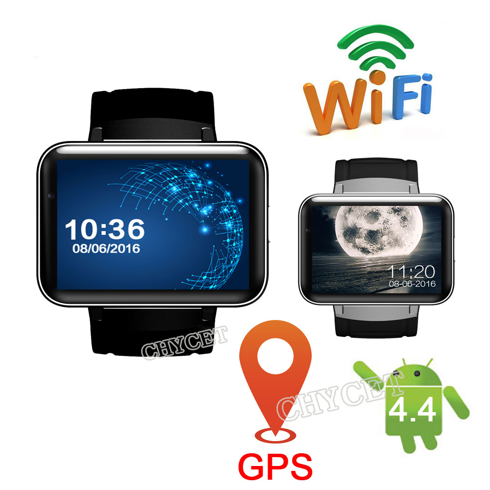 DM98 Smart Watch 2.2 Big Screen Bluetooth Watches with Speaker WiFi GPS 3G Smartwatch Android 4.4 Camera Luxury Clock interpad dm98 smart watch big screen 2 2 inch ips hd huge 900mah battery android phone clock support gps wifi sim smartwatch