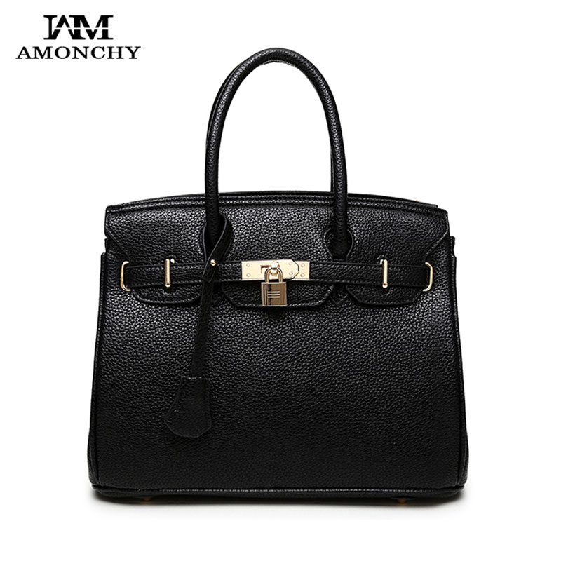 ab33bffb4d 2018 New Women Bags Handbags Famous Brand Platinum Lock Bag Fashion  Designer Leather Women Shoulder Bags High Quality Lady Totes-in Shoulder  Bags from ...