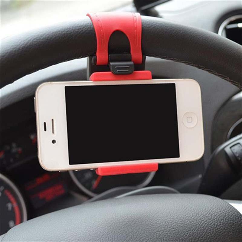 Car Steering Wheel Mount Holder Rubber Band For IPhone IPod MP4 GPS Accessories  Car Mount Holder For Universal Mobile Phone