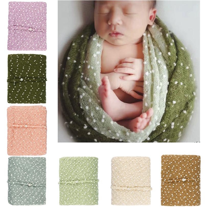 iefiel swaddling envuelva manta newborn baby boy girls mohair con tocado fotografa foto atrezzo flor hecha