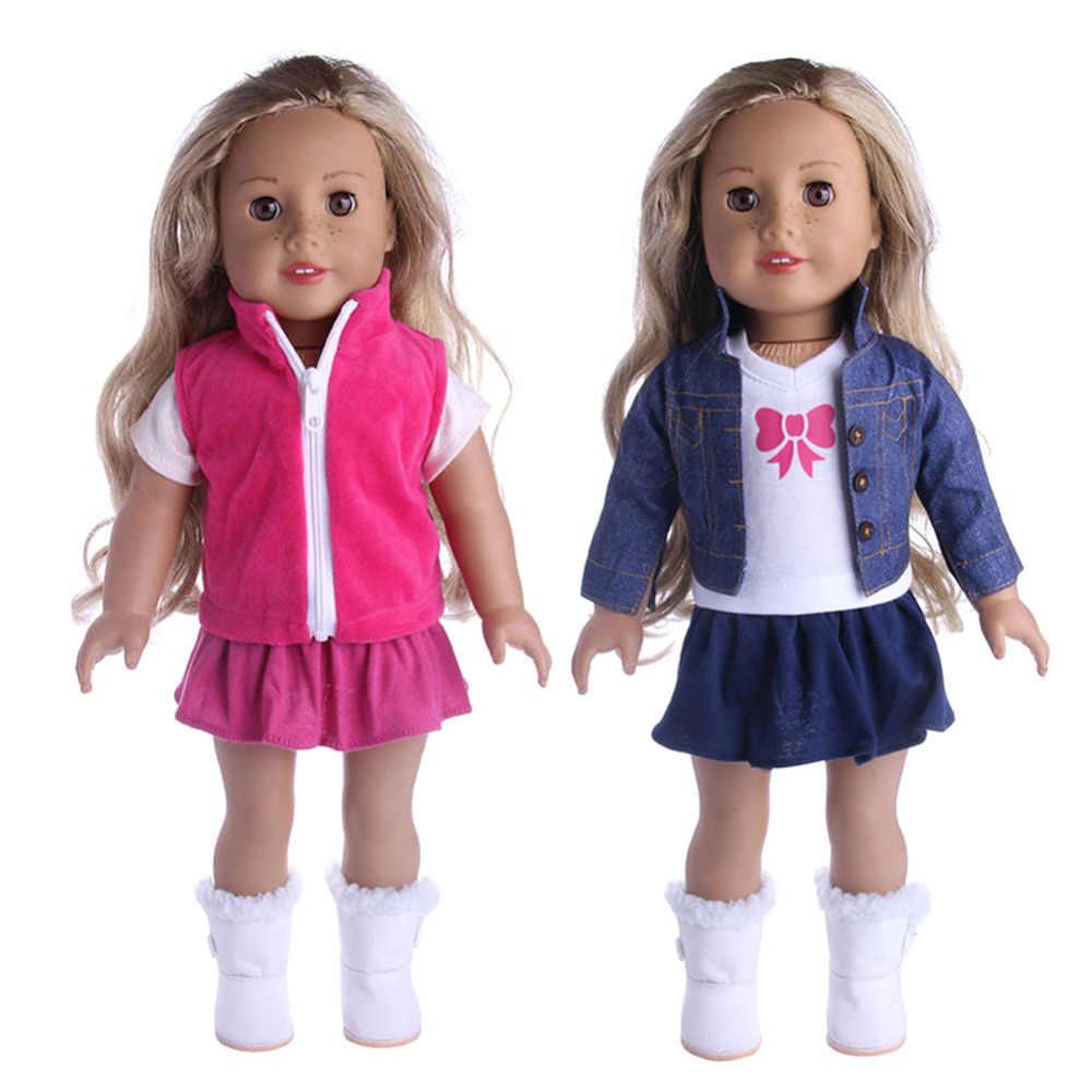 d727b35e4550 Fancy Jeans Shirt Vest Tops Pleated Dress Suit Clothes for 18 inch Our  Generation Doll Princess