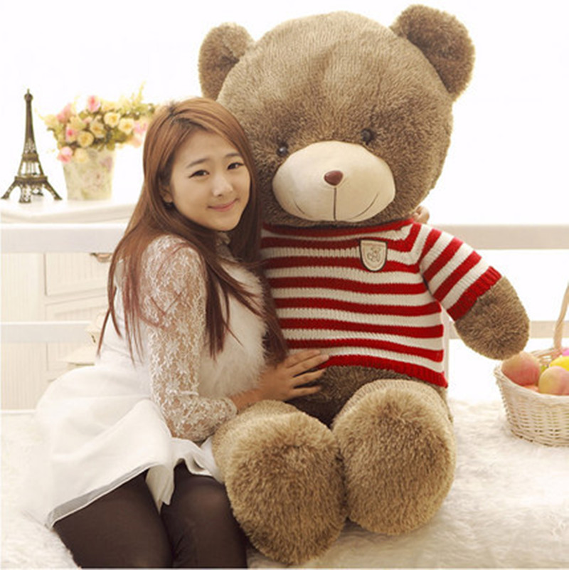 buy kawaii 140cm 55inch giant teddy bear plush toys stuffed ted cheap price. Black Bedroom Furniture Sets. Home Design Ideas
