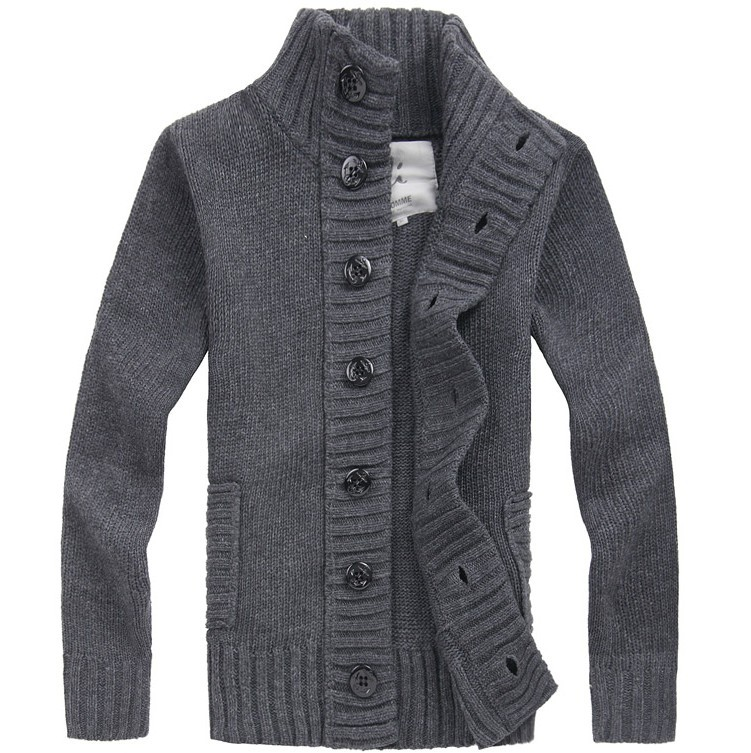 Mens Sweater Cardigan Long Sleeve Casual Jackets Sweaters Loose