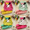 Fashion Minnie Mouse 2PCS Kid Baby Girls Kids Peas Top + Pants Outfits Set Cotton
