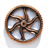 Vintage Industrial Wind Bar Office Wooden 30cm Gear Wall Thick Gear Ornaments Home Wall Ornaments Decor