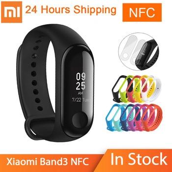 Original Xiaomi mi band 3 NFC Fitness Tracker Smart Bracelet 0.78 OLED Touch Screen 50M Waterproof Xiaomi miband 3 nfc version xiaomi