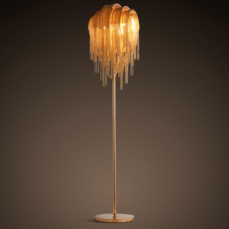 Personalized decoration floor lamp luxury chain tassel living room led floor lamp
