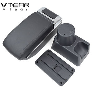 Image 5 - Vtear For renault duster accessories armrest USB interface arm rest Center Console car styling leather Storage Box interior 2018