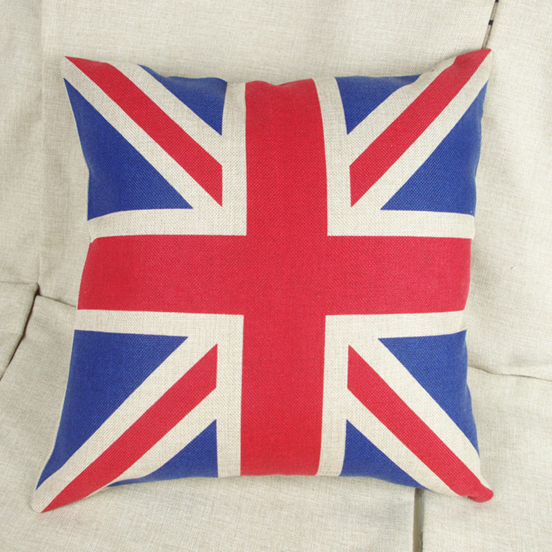 45 45cm Blend Linen Throw Pillow Covers Colorful Cases Bedroom
