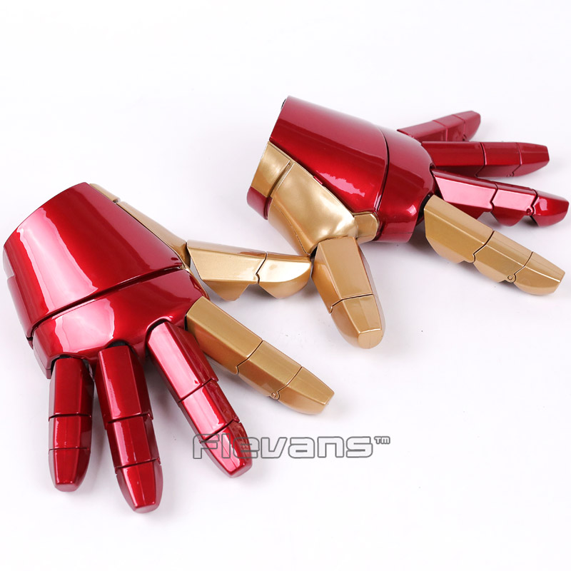 Iron Man Gloves with LED Light Left / Right Hand (can charge) PVC Action Figure Collectible Model Toy hellboy giant right hand anung un rama right hand of doom arms hellboy animated cosplay weapon resin collectible model toy w257