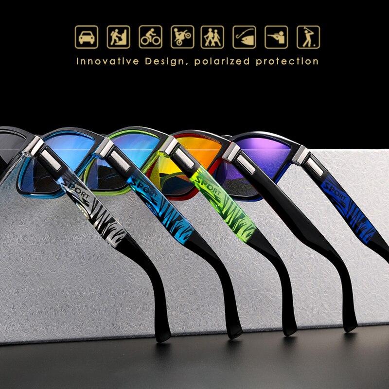 Image 2 - New Polarized Sunglasses for Men KDEAM Driving Mens Sunglasses Square Avantgarde Sun Glasses for Women Assembles 5 Barrel Hinge-in Men's Sunglasses from Apparel Accessories