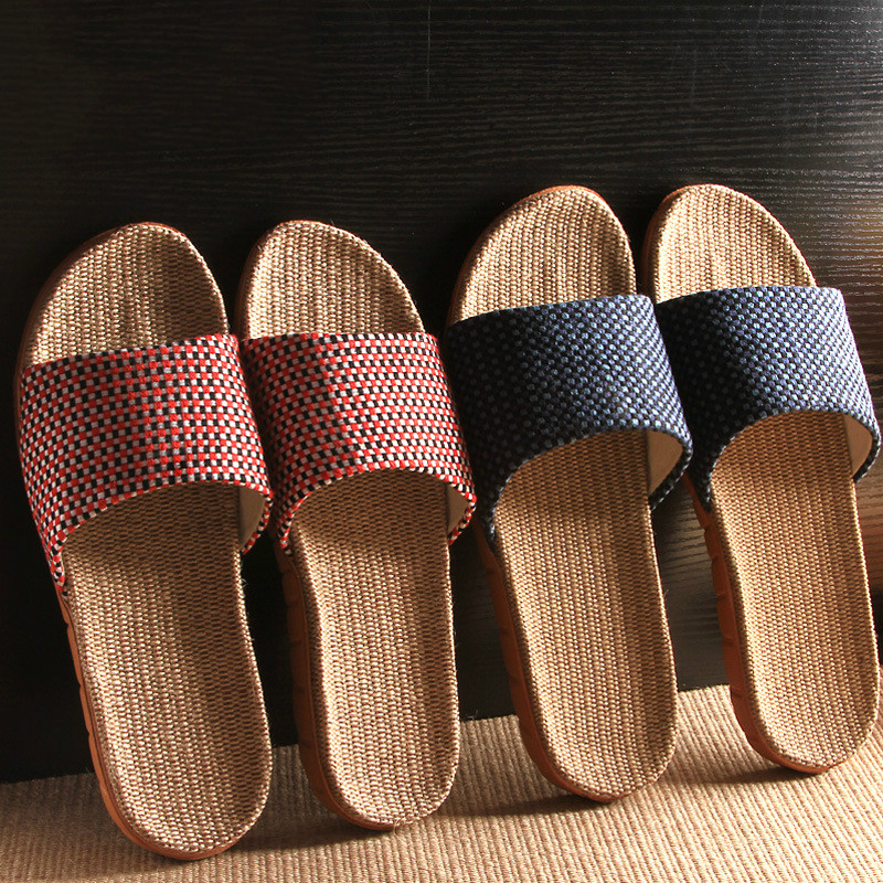 New Home Slippers, Indoor Non-slip Linen Ladies Slippers Womens Shoes