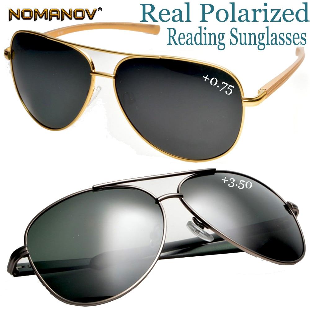 Pilot Aviator POLARIZED BIFOCAL Sunglasses Readers Fishing Driving Glasses