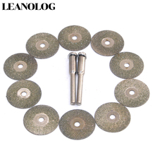 10pcs 20MM  Diamond blades for Jewelry/thin metal/glass Dremel Tools With 2pcs Connecting rod