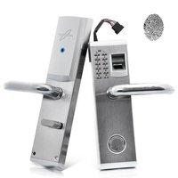 Heavy Duty Stainless Steel Biometric Fingerprint Door Locks Deadbolt Features Mechanical Key Password Digital Code Keyless Lock
