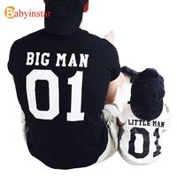 Big Man Liitle Man Father Son Matching Tops Tees Family Matching Outfits Family Look Creative
