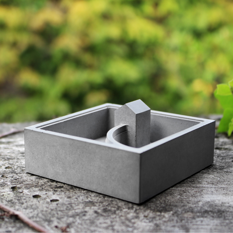 US $28 04 15% OFF|Silica gel silicone molds concrete mold small house muti  meat flower pots mould cement vase supplies mould-in Cake Molds from Home &