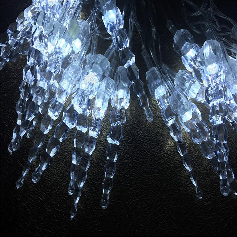 2016 New 10M50 LED 220vLED icicle lights Christmas lights Xmas party wedding decoration LED light string Outdoor Decoration