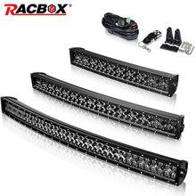 цена на 5D 22 32 42 inch 200w 300w 400w Curved Led Light Bar Black Pearl Combo Led Work Light For Tractor OffRoad ATV 4x4 4WD UTV SUV