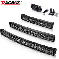 5D 22 32 42 inch 200w 300w 400w Curved Led Light Bar Black Pearl Led Work Light With Cree Chips For Tractor OffRoad ATV 4x4 4WD