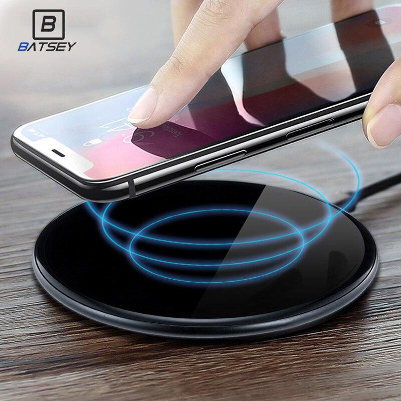 BATSEY Drahtlose Ladegerät Für iPhone 8/X/8 Plus 10 watt Qi Schnelle Drahtlose Aufladen Pad Drahtlose Ladegerät für Samsung Galaxy S8/S7/S8 +