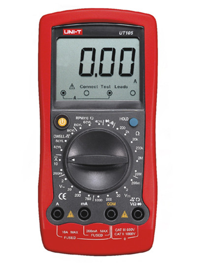 где купить UNI-T UT105 Handheld Automotive Digital Multimeter Auto Range AC DC Voltage Current Meter Tester Voltmeter Ammeter по лучшей цене
