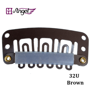 Image 2 - 6bags 6000pcslot 32mm Hair Extension With U Tip Snap Metal Clips with silicone back  Black,Blonde,Brown Optional
