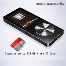 MP4 Lecteur 8 г Динамик металлический с Экран голос Регистраторы Видео FM Radios без потерь Музыкальный плеер поддерживает 128 ГБ памяти карты
