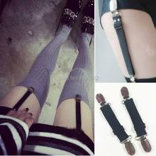 357724a9736 Punk Basic Plain Elastic Nylon Garters Handmade Clips Sock Stockings Shorts Thigh  Garter Belt Suspenders